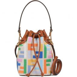 Mini Mon Tresor Logo Canvas Bucket Bag