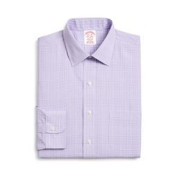 Classic Fit Plaid Dress Shirt