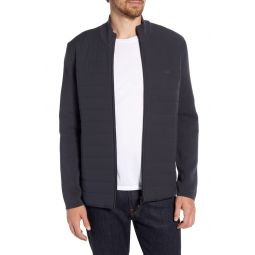 Motion Classic Fit Texture Block Zip Front Sweater