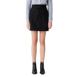 Josina Faux Wrap Miniskirt
