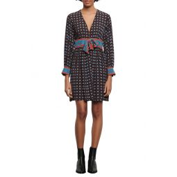 Cate Mix Print Long Sleeve Dress