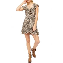 French Quarter Print Wrap Minidress