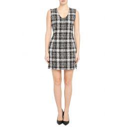 Tweed Sleeveless Sheath Dress
