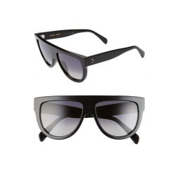 58mm Polarized Aviator Sunglasses