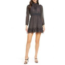 Dayo Lace Trim Long Sleeve Minidress