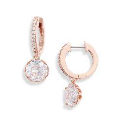 that sparkle pave huggie hoop earrings