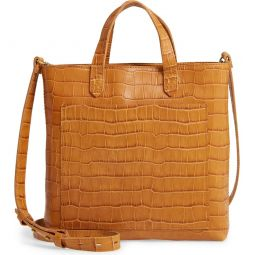 The Zip-Top Small Transport Embossed Leather Crossbody Bag