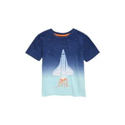 Dip Dye Space Graphic T-Shirt