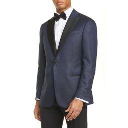 G Line Trim Fit Geometric Wool & Silk Dinner Jacket