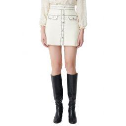 Jisla High Waist Knit Miniskirt
