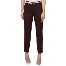 Lissia Slim Textured Wool Blend Suit Trousers