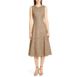 Windowpane Plaid Sleeveless Cotton & Linen Dress