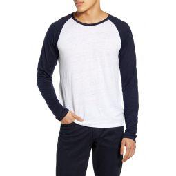 Slim Fit Linen Baseball T-Shirt