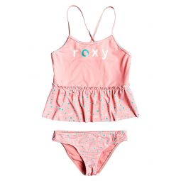 Splash Party Logo Ruffle Two-Piece Swimsuit