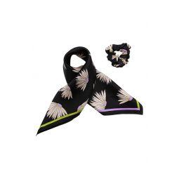 falling flower mini silk hair tie