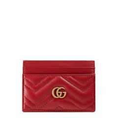 GG Marmont Matelasse Leather Card Case