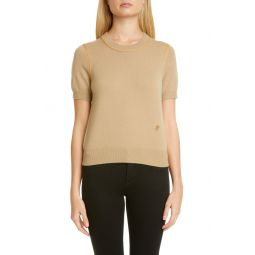 Constance TB Monogram Piped Cashmere Sweater