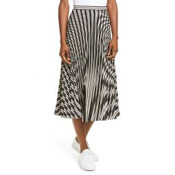 Annina Pleated Satin Skirt