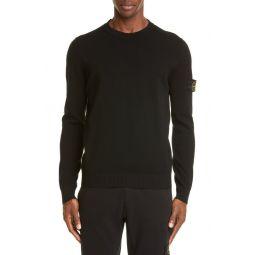 Logo Patch Wool Blend Sweatshirt