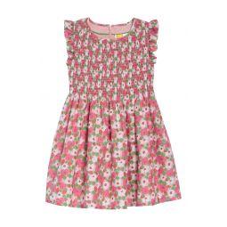 Smocked Woven Dress