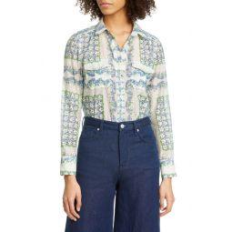 Floral Cotton & Silk Blouse