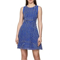 Nelly Spot Print Sleeveless Fit & Flare Dress