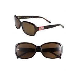 annika 56mm polarized rectangular sunglasses