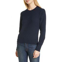 Chevron Texture Crewneck Sweater
