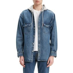 Jackson Regular Fit Hooded Denim Overshirt
