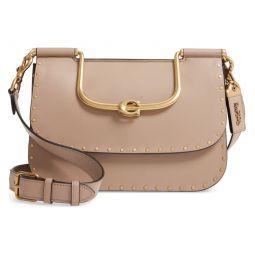 Ellie Rivets Colorblock Leather Crossbody Bag