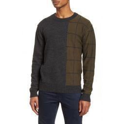 Regular Fit Windowpane Wool Blend Sweater