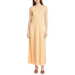 원피스Gingham Soft Swing Maxi Dress