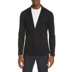 Trim Fit Knit Cotton Blend Blazer