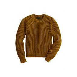 Garment Washed Crewneck Sweater
