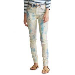 Tompkins High Waist Color Splattered Ankle Skinny Jeans