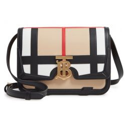Small TB Patchwork Leather Crossbody Bag