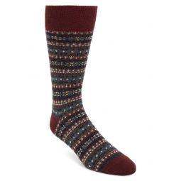 Fair Isle Wool Blend Slack Socks