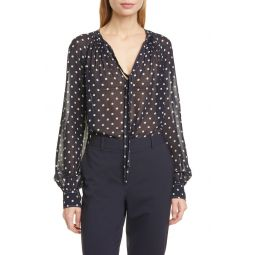 Shelby Dot Print Georgette Blouse
