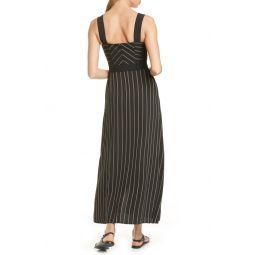 Techno Stripe Wrap Front Maxi Dress