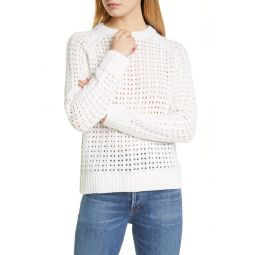 Pointelle Grid Pullover