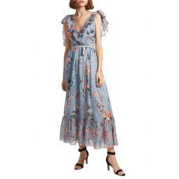 Cecile Floral Print Maxi Dress