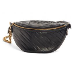 Extra Small Souvenir Logo Leather Belt Bag