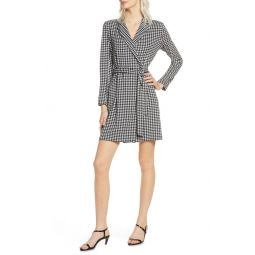 Sadira Houndstooth Check Long Sleeve Dress