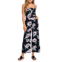 Feel the Retro Spirit Floral Jumpsuit