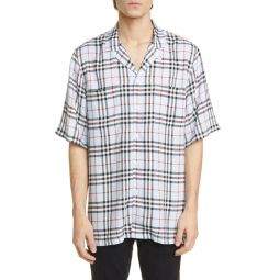 Raymouth Check Short Sleeve Button-Up Shirt