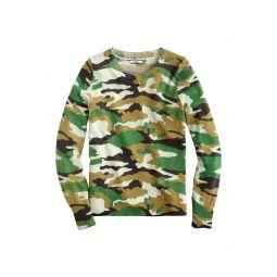 Camo Cashmere Crewneck Sweater