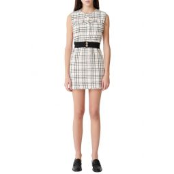 Rianey Cotton Blend Tweed Sleeveless Dress