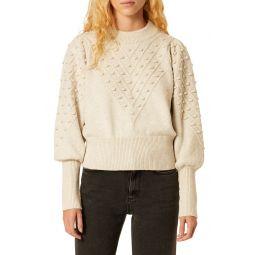 Bobble Stitch Crop Sweater
