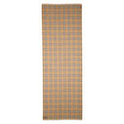 Vintage Check Wool & Silk Gauze Scarf