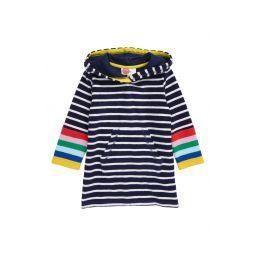 Stripe Terry Cloth Throw-On Beach Cover-Up
